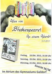 Shakespeare Plakat